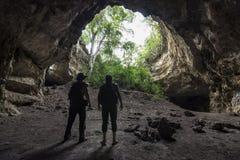 Aventure épique de caverne dans Chiapas, Mexique photos libres de droits
