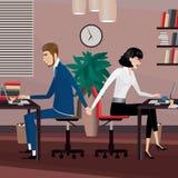 Aventure amoureuse au travail illustration de vecteur