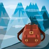 Aventure d'envie de voyager avec le paysage et la nature d'explorateur illustration libre de droits