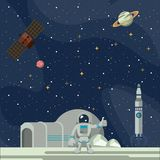 Aventure d'exploration d'espace illustration libre de droits