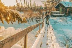 Aventure d'hiver photographie stock