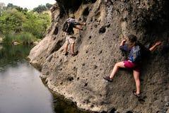 Aventure de crique de Malibu Photos libres de droits
