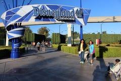 Aventure de Disneyland d'entrée Images stock