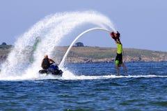 Aventure de Flyboard la Mer Noire Image stock