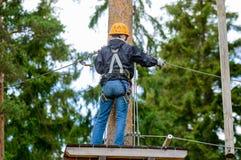 Aventure de haute altitude Photos libres de droits