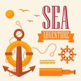 Aventure de mer d'illustration illustration libre de droits
