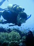 Aventure de plongée à l'air Photographie stock libre de droits