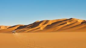 Aventure de safari de désert de Sahara Photos stock