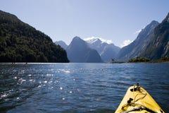 Aventure large de kayak Photos libres de droits