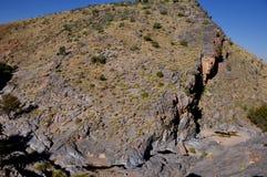Aventure-se o pur na viagem 4x4 através da garganta no Kalahari Fotografia de Stock