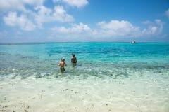 Aventures de plage à l'île de mystère Photos libres de droits