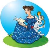Aventures du `s d'Alice au pays des merveilles illustration stock