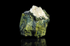 Aventurine quartz in front of a black background Royalty Free Stock Photo