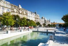 Avenue of the Allies (Avenida dos Aliados) in Porto, Portugal. Royalty Free Stock Photography