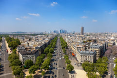 The Avenue Charles de Gaulle Royalty Free Stock Images