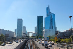 The Avenue Charles de Gaulle and La Defense Stock Photos