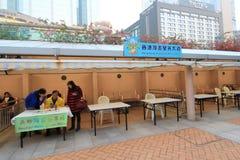 Avenue of Comic Stars in Hong Kong Stock Image