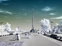 Avenue of Cosmonauts. Infrared photo Stock Photography