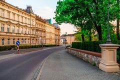 Avenue d'été de Znojmo image libre de droits