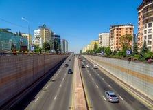 Avenue d'Almaty - d'Al-Farabi Images libres de droits