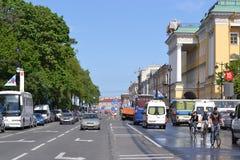 Avenue d'Amirauté, St Petersburg Image libre de droits