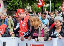 Avenue de Λα Liberte με τα protestors Στοκ Εικόνα
