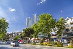Avenue de Bagdat, Istanbul Image stock