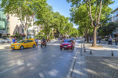 Avenue de Bagdat, Istanbul Images stock