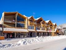 Avenue de Banff en hiver Image libre de droits