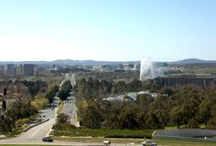 Avenue de Commonwealth - Canberra Images stock