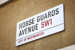 Avenue de gardes de cheval Image libre de droits