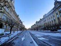 Avenue de La LibertA© -卢森堡 免版税库存照片