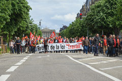Avenue de la Liberte with protestors Stock Images