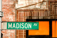 Avenue de Madison images libres de droits