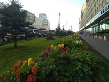 Avenue de Moscou pendant le début de la matinée image libre de droits
