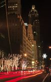 Avenue de Noël NYC 5ème Photo stock