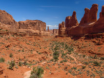 Avenue de parc, voûtes parc national, Utah, Etats-Unis Image libre de droits