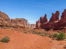 Avenue de parc, voûtes parc national, Utah, Etats-Unis Photographie stock libre de droits