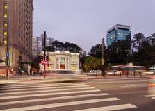 Avenue de Paulista à Sao Paulo, Brésil Images libres de droits