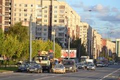 Avenue de Shlisselburgsky, St Petersburg Images libres de droits