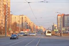 Avenue de Shlisselburgsky, St Petersburg Photos stock