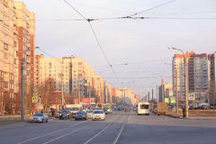 Avenue de Shlisselburgsky, St Petersburg photo stock