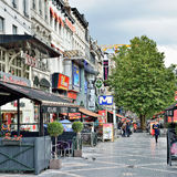 Avenue de Toison d'Or in Brussels Royalty Free Stock Image