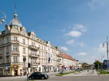 Avenue de Vierge Marie dans Czestochowa Photographie stock libre de droits