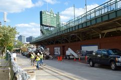 Avenue de Wrigley Rennovations-Waveland I image libre de droits