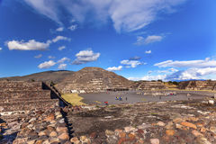 Avenue of Dead Moon Temple Pyramid Teotihuacan Mexico City Mexico Stock Image