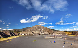 Avenue of Dead Temple of Moon Pyramid Teotihuacan Mexico City Me Royalty Free Stock Photos