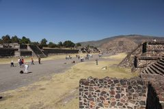 Avenue of the Dead at Teotihuacan ancient pre-Columbian site, Mexico Stock Photography