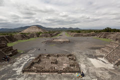 The Avenue of the Dead in Teotihuacan Royalty Free Stock Image