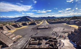 Avenue of Dead Teotihuacan, Mexico City Mexico Stock Photos